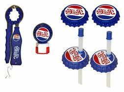 Jokari 6 Piece Pepsi Heritage Logo Beverage Gadget Set