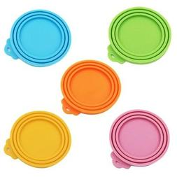 Pet Food Can Cover Silicone Reusable Cap Top Can Lids for Do