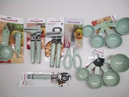 KitchenAid pistachio mint light green kitchen utensils