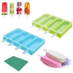 Popsicle Molds, 2PCS Ice Pop Maker Ice Pop Molds with Lid an