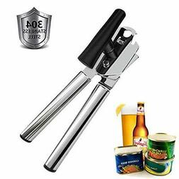 Premium Can Opener Manual, Smooth Edge 3 in 1 for Seniors an