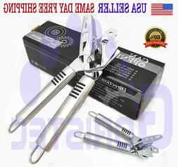PREMIUM CAN OPENER Stainless Steel Heavy Duty Blades Strong