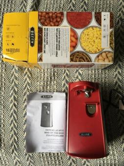 BELLA RED TALL ELECTRIC CAN OPENER with knife sharpener and