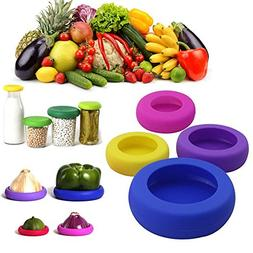 Reusable Silicone Food Savers protectors Food Caps for Jars