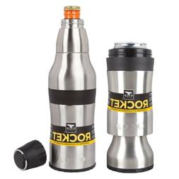 Orca Rocket Bottle And Can Hugger W/ Shot Cup And Bottle Ope