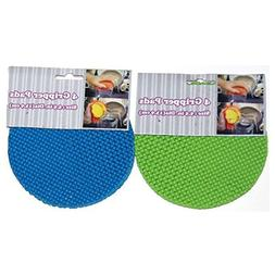 Round Multi-Purpose Jar Gripper Pad Bottle Lid Opener- 2 Pac