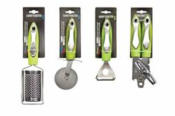 Set of Can Opener, Cheese Grater, Pizza Cutter & Peeler - Gr