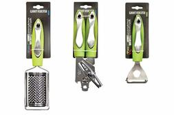 Set of Cheese Grater, Can Opener & Peeler, Stainless Steel -