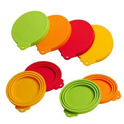 Silicone Pet Can Covers lids-4 Pack for Pet Dog Cat Food Can