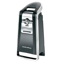 Smooth Touch Can Opener Chrome Black Electric Kitchen Cuttin