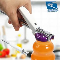 Stainless Steel Adjustable Can Bottle Jar Lid Opener Manual