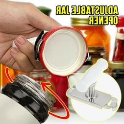 stainless steel can opener jar bottle adjustable