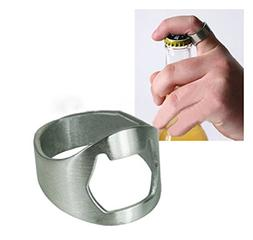 Stainless Steel Finger Ring Bottle Opener Bar Beer Tool by 2