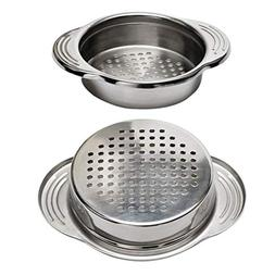 DayCount 2-Pack Stainless Steel Food Can Drainer Strainer, S