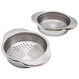 2 Pack 3.3 inch Stainless Steel Food Can Drainer Strainer -