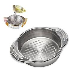 Aolvo Stainless Steel Food Can Strainer Sieve Tuna Press Lid