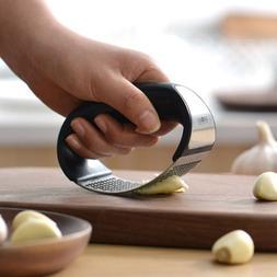 Stainless steel manual garlic press crusher squeezer masher