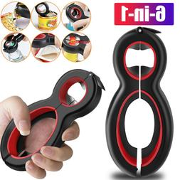 6 in 1 Multi-function Bottle Opener Kitchen & Dining Jar Can
