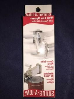 SWING-A-WAY WALL MOUNT CAN OPENER - MAGNETIC LIFTER MANUAL
