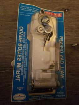 SWING-A-WAY Wall Mount CAN OPENER White w/ Crank & Magnet Sw