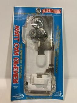 SWING AWAY Wall Mount CAN OPENER WHITE w/ Crank Magnet Lid l