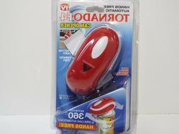 Tornado F4 Electric Can Opener in Red