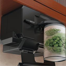 Under Counter Can Opener Black Cabinet Mounted Knife Cutter