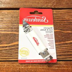 FREE US S&H ! SUNBEAM MAGNETIC BOTTLE OPENER & CAN PUNCH W/L