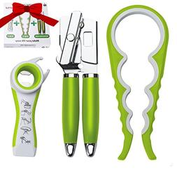 LA&V Manual Can Opener Smooth Edge - Jar Opener 4 In 1 - 5 i