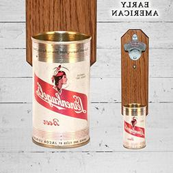 Wall Mounted Bottle Opener with Vintage Leinenkugel's Beer C