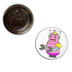 White Girl Robot - 55mm Fridge Magnet Bottle Opener