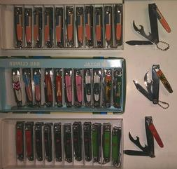 Lot of 12,24-- 3 Way Nail Clippers,NailL Cutters Knife,Can B